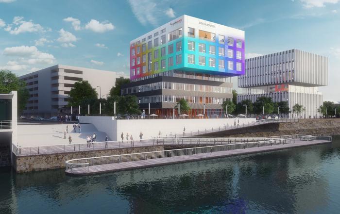 Krankikom GmbH Gebäude am Schwanentorufer in Duisburg